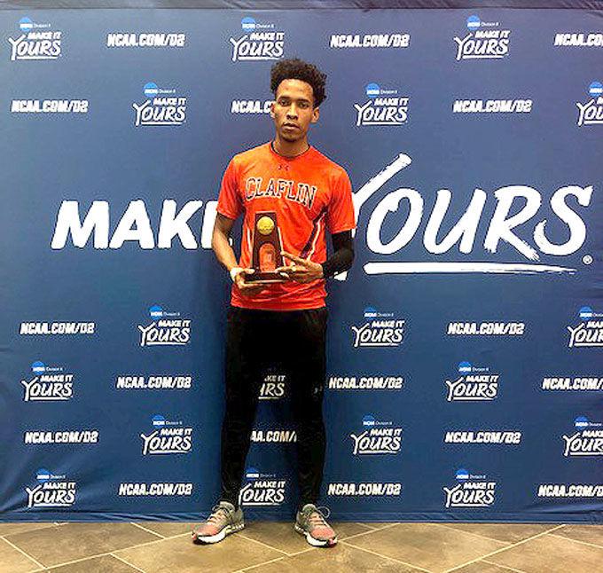Claflin University freshman sprinter Derick St. Jean