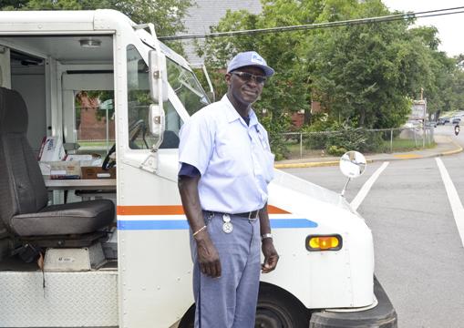 Postal carrier Norman Brown Jr.