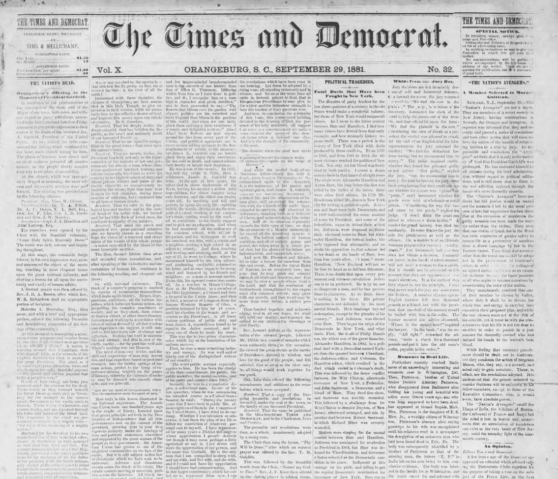 The T&D Sept. 29, 1881