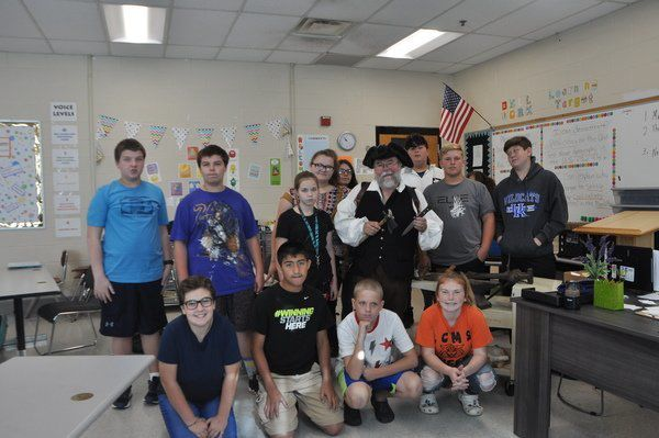 Students go back in time to meet Daniel Boone's brother