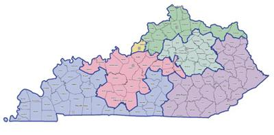 Map Of Georgia 6th Congressional.Ky Senate Passes Congressional District Map Local News