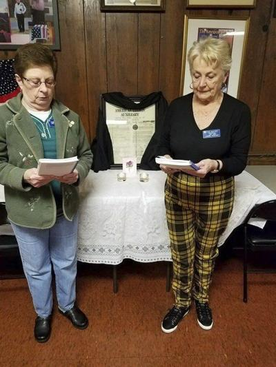 American Legion drapes Charter for Betty Wells