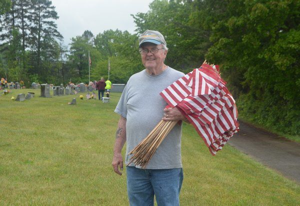 DAV, Boy Scouts place flags on veterans' graves