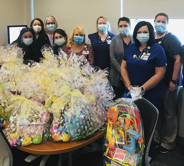 Saint Joseph London donates 128 Easter baskets
