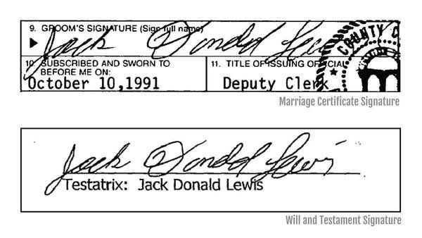 <b>Expert: Signature of Tiger King's Don Lewis 'traced' on his will</b>