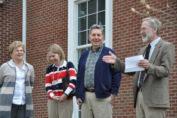 UChonors Raymond Sutton Jr. during Arbor Day celebration