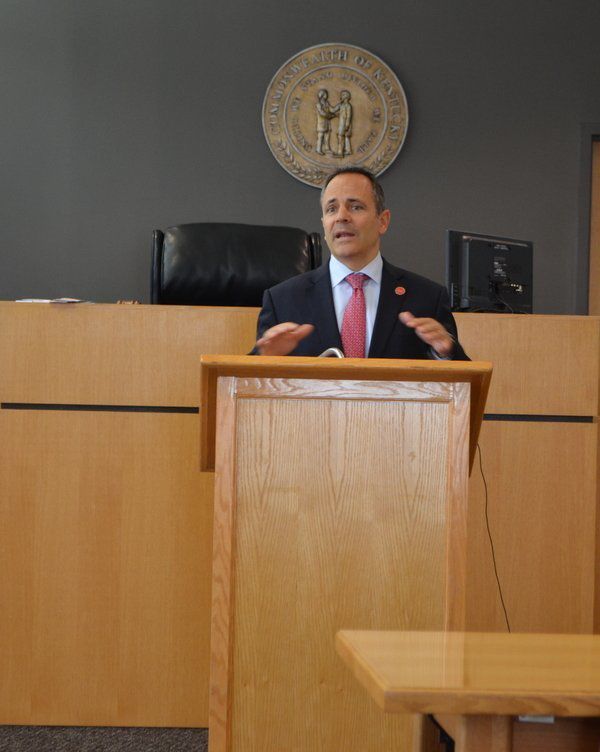Gov. Bevin visits Barbourville to announce almost $823,000 in transportation funding