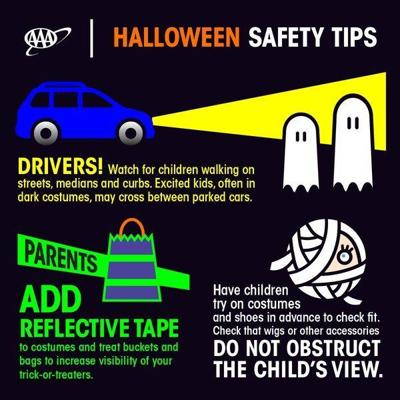 AAA offers safety tips for children and adults on Halloween
