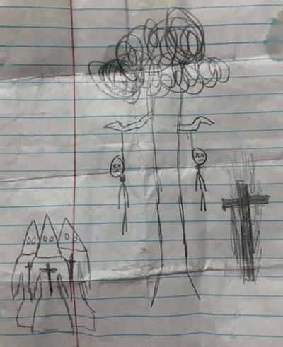 Mother finds racist drawing inson's backpack; School takes action to address it