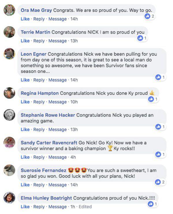 Community reacts to Nick Wilson's 'Survivor' win | Local