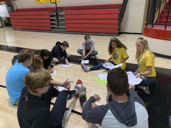 Upperclassmen mentor incoming freshmen as part of WCHS program