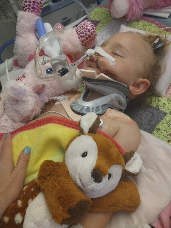 Community, strangers supporting local 2-year-old girl in critical condition after UTV crash