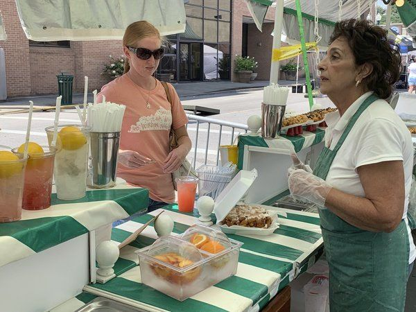 NIBROC attendees enjoy a variety of sweet treats Friday