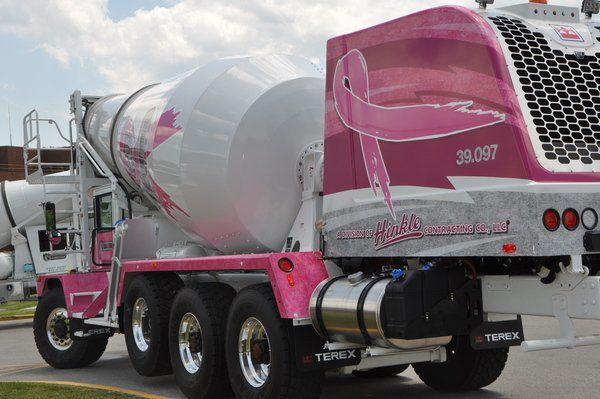 WRAPPED IN HOPE: Triple Crown Concrete unveils pink trucks in effort to raise breast cancer awareness