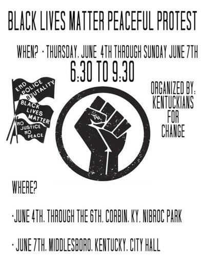 Peaceful protest planned for Nibroc Park beginning Thursday evening