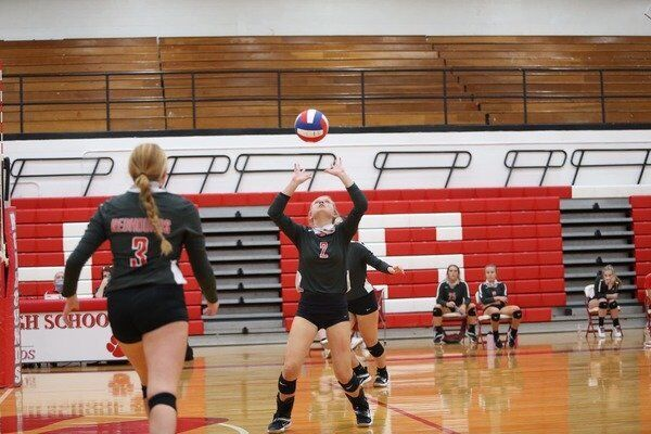 Lady Redhounds defeat North Laurel in three consecutive sets