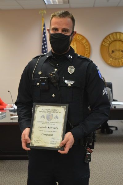 Three Corbin Police officers receive promotions
