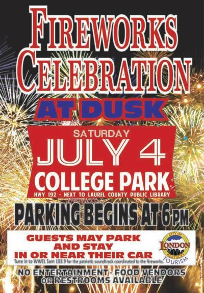 <b>Fireworks display still on for July 4 at College Park in London</b>
