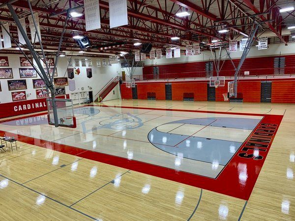 SOMETHING OLD, SOMETHING NEW:<span>South Laurel High School's new court design payshomage to Laurel County High School</span>