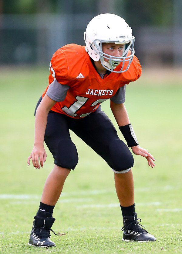 TWO OF A KIND:<span>Lylah Mattingly and Allie Wilson excelling on the field for W'burg Middle School's eighth-grade football team</span>
