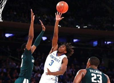 Maxey flashy in debut, leads Cats past Sparty in season opener