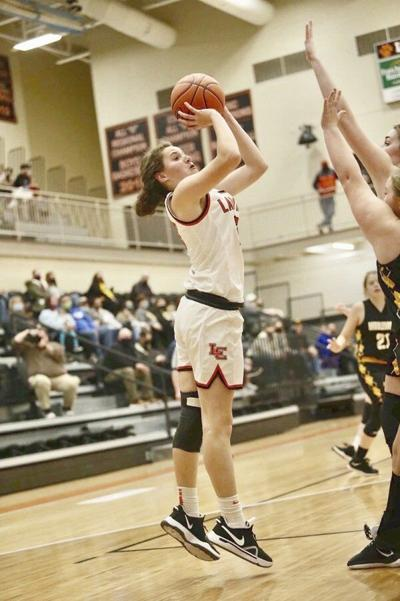 Pineville's duo of Caldwell and Partin too much for Lady Wildcats