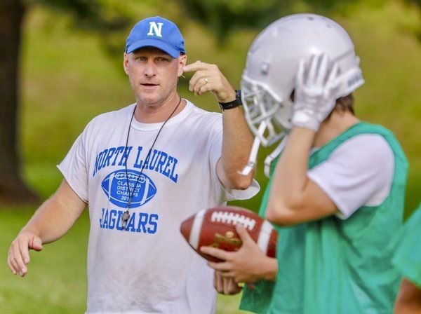 STAYING THE COURSE:<span>North Laurel coach Chris Larkey pleased with his team's improvement during the summer</span>
