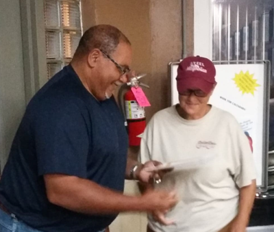 New member Kathy Fraley is welcomed