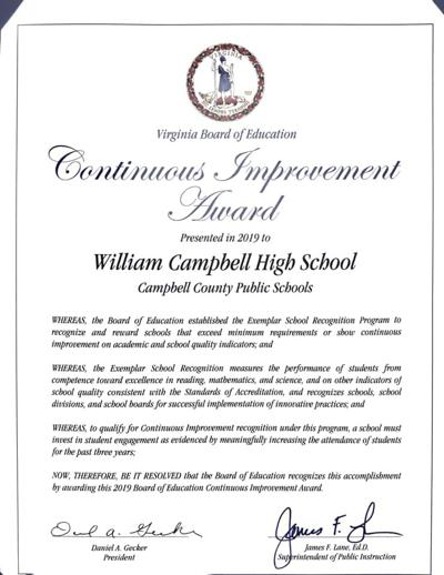 WCCS is recognized by state