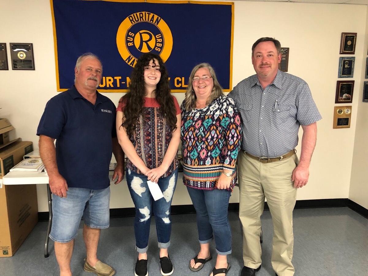 Ruritan Club awards scholarship to local student