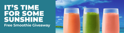 Tropical Smoothie Cafe giving away free smoothies throughout Memorial Day Weekend