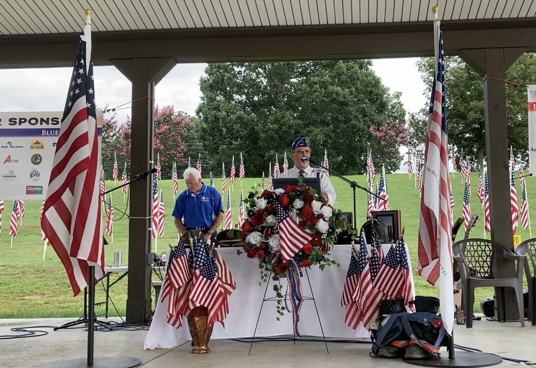 Veteran speaks at Field of Honor event