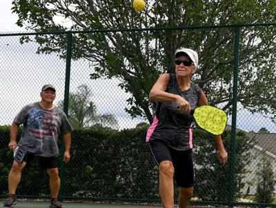 Residents happily return to the courts