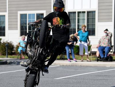 Motorcycle stunt show wows residents of The Willows