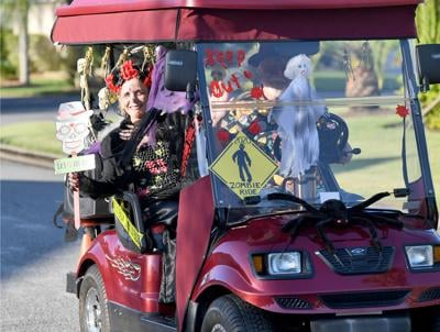 Villagers Go Out For Ghoulish Rides in Celebration of Holidays
