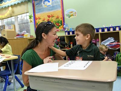 Smiles return as school year starts in person