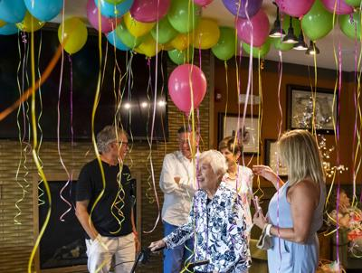 Wildwood resident celebrates birthday with 100 balloons
