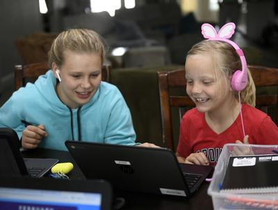 Students, teachers use online learning
