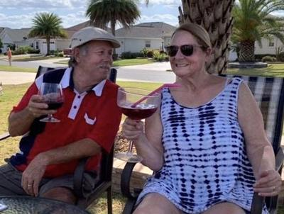 Fond farewell, friendly hello for couple