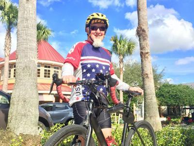 Villager enjoys taking bird on bike rides in neighborhood