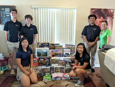 Villages High School honors students donate to hospices