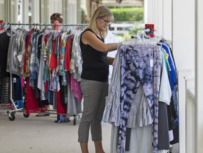 Sales spill out on to Lake Sumter sidewalks