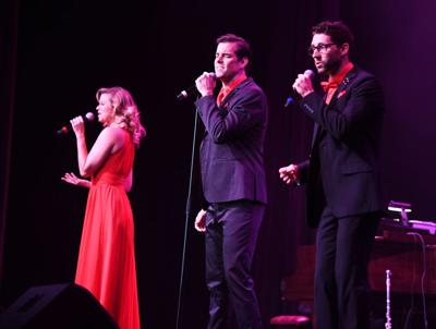 Audience treated to trio singing broadway hits