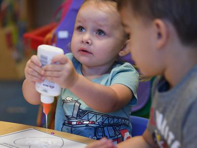 Little ones learn crafts, make smiles