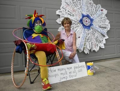 Villager spreads cheer with 100 days of dummies