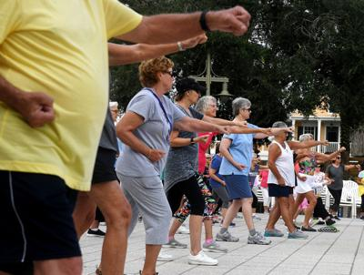 Tai Chi kicks off events on the Square