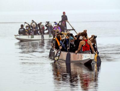 Dragon boaters get back on the water