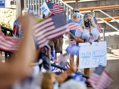 Supporters cheer for team Biden