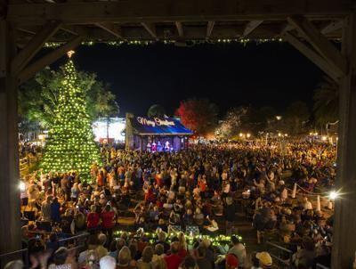 Holiday spirit shines at first tree lighting