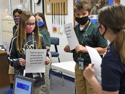 VCS students learn self-evident truths